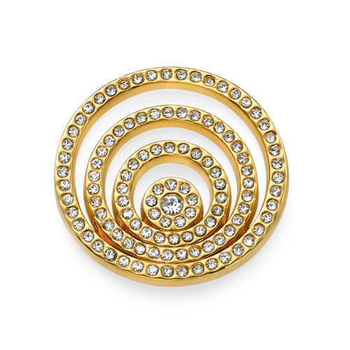 Gold Plated Spiral Coin