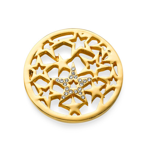 Gold Plated Stars Coin