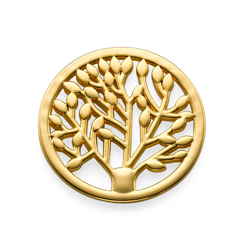 Gold Plated Tree Coin