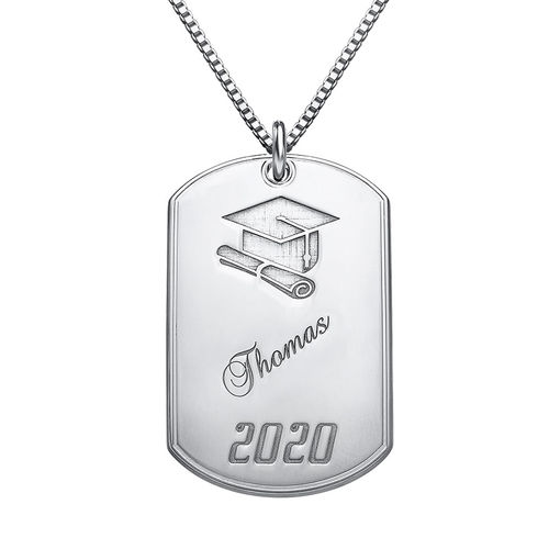 graduation jewelry dog tag necklace mynamenecklace