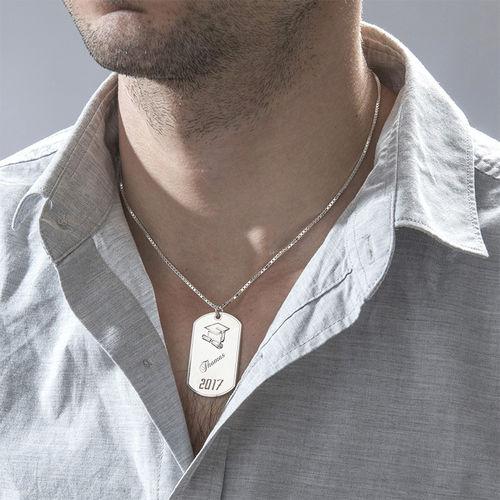 Graduation Jewelry - Dog Tag Necklace - 1
