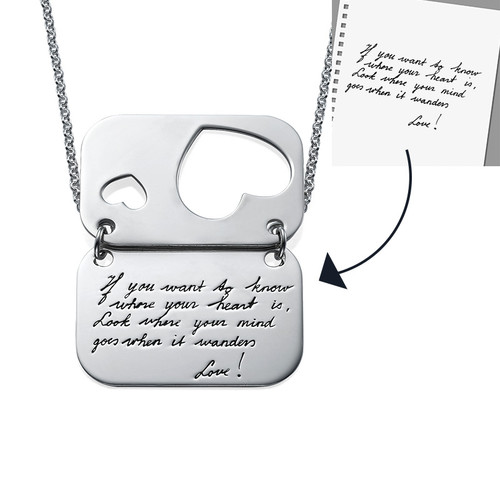 Handwriting Jewelry - Love Note - 1