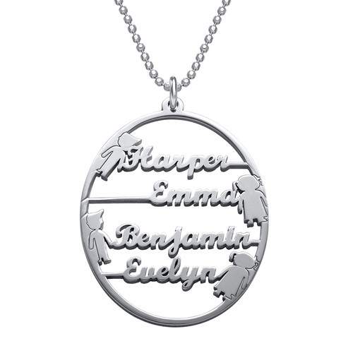 Happy Family Name Necklace