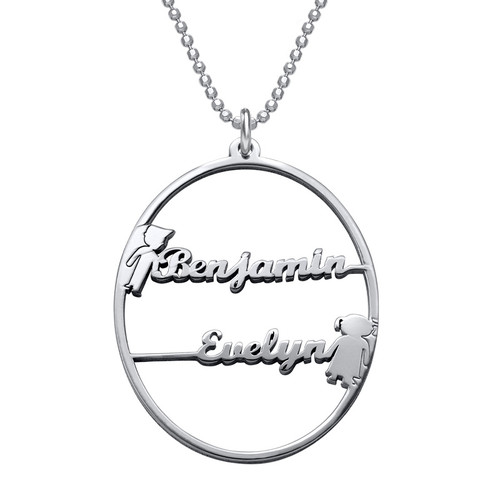 Happy Family Name Necklace - 1