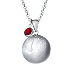 Harmony Ball Necklace with Baby Feet
