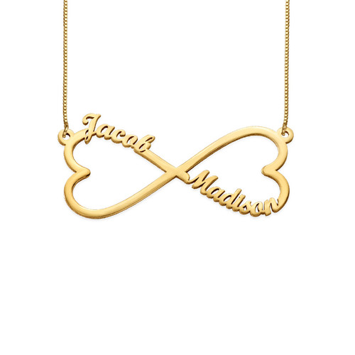 Heart Infinity Name Necklace - 14K Gold