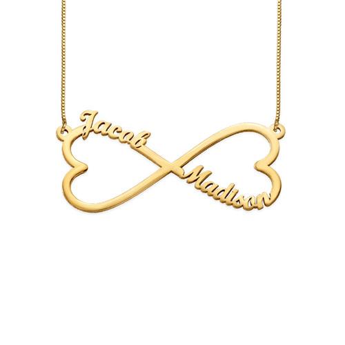Heart Infinity Name Necklace 14k Gold Mynamenecklace