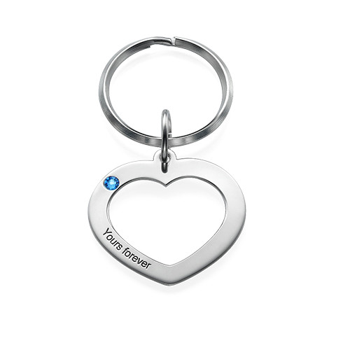 Heart Keychain for Couples - 1