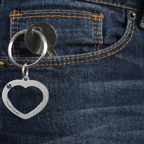 Heart Keychain for Couples - 4