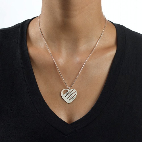 Heart Necklace with Engraved Names - 1