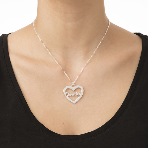 Heart Necklace with Scripted Name - 1