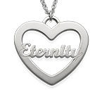 Heart Necklace with Scripted Name