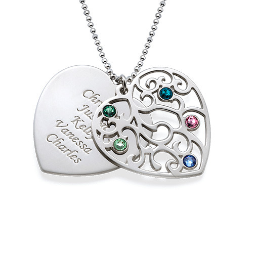 Grandma Family Tree Necklace With Birthstones Mynamenecklace