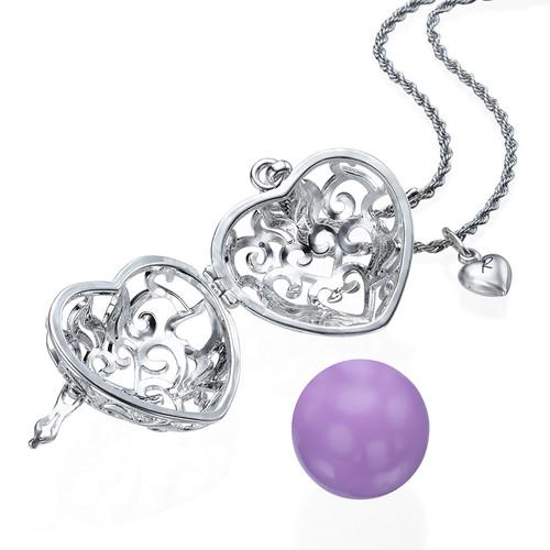 Heart Shaped Harmony Ball Necklace - 1