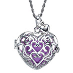 Heart Shaped Harmony Ball Necklace