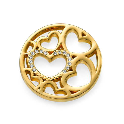Hearts Coin in Gold Plating