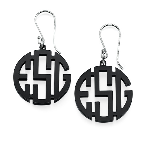 Monogram Acrylic Earrings