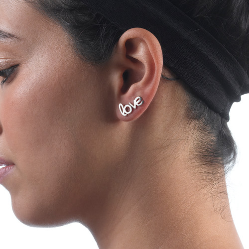 Hope and Love Stud Earrings - 4