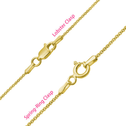 Infinity 4 Names Necklace with Gold Plating - 4