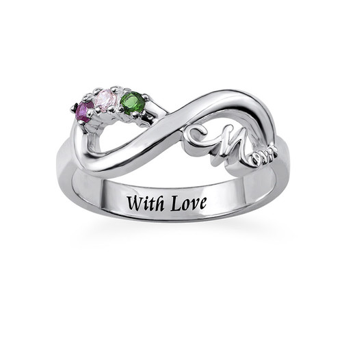 Infinity Mom Ring with Inner Engraving - 1
