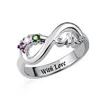 Infinity Mom Ring with Inner Engraving