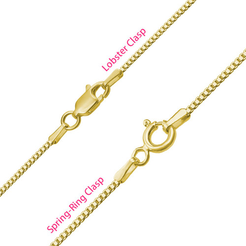 Infinity Name Necklace with Birthstones  - Gold Plated - 3