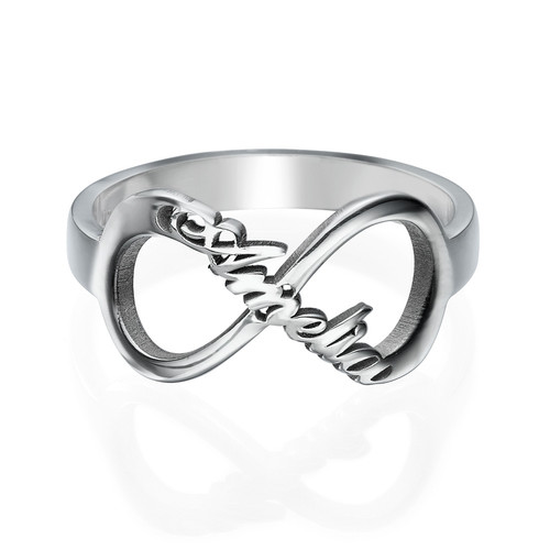 Infinity Name Ring in Silver - 1