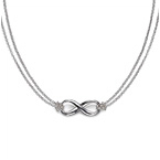 Infinity Pendant in Sterling Silver