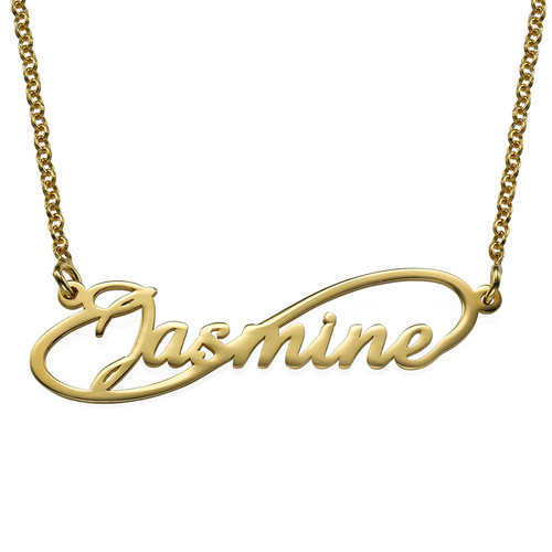 Infinity Style Name Necklace with Gold Plating