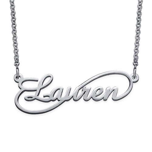 Infinity Style Silver Name Necklace