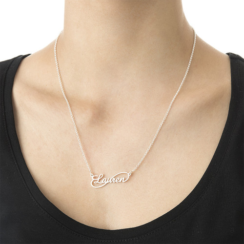 Infinity Style Silver Name Necklace - 2