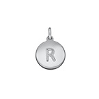 Initial Disc Charm - Silver