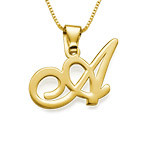 Initial Pendant in 18k Gold-Plating