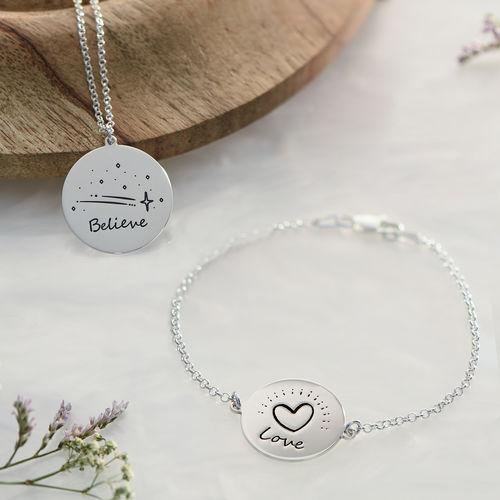 Inspirational Bracelet In Silver - 4