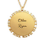 Inspirational Family Disc Necklace in Gold Plating