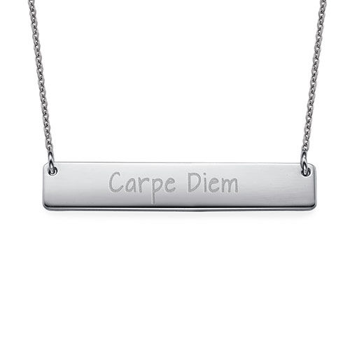 "Inspirational Jewelry - ""Carpe Diem"" Bar Necklace"