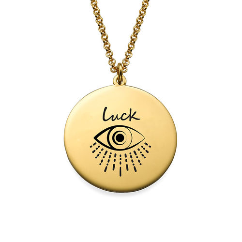 Inspirational Necklace In Gold Plating