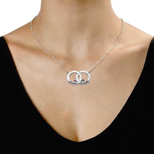 Interlocking Circle Necklace - 1