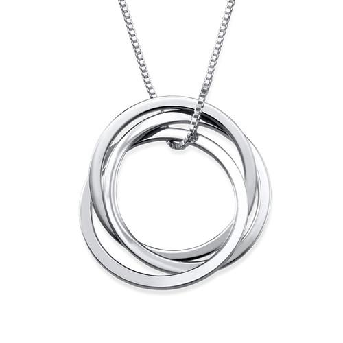 Interlocking Lovers ring necklace