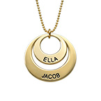 Jewelry for Moms - Disc Necklace in 10K Gold