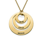 Three Disc Necklace in 18k Gold Plating