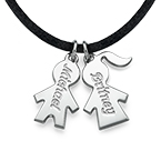 Kids Charms on a Cord Necklace