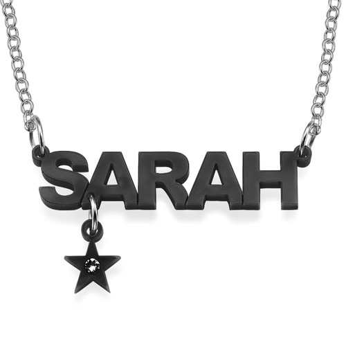 L.A. Style Color Name Necklace with Charm