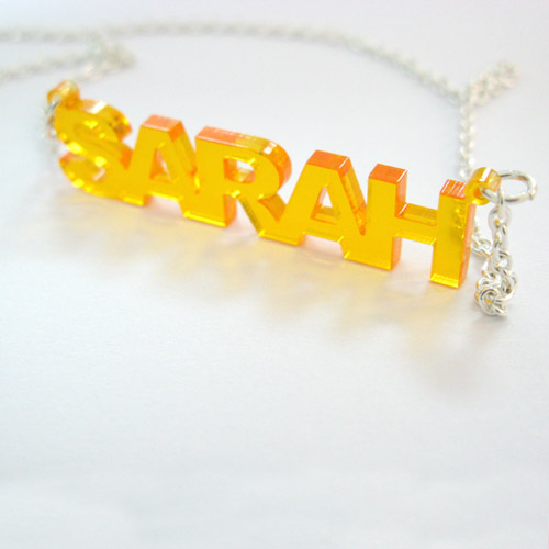 L.A. Style Color Name Necklace - 2
