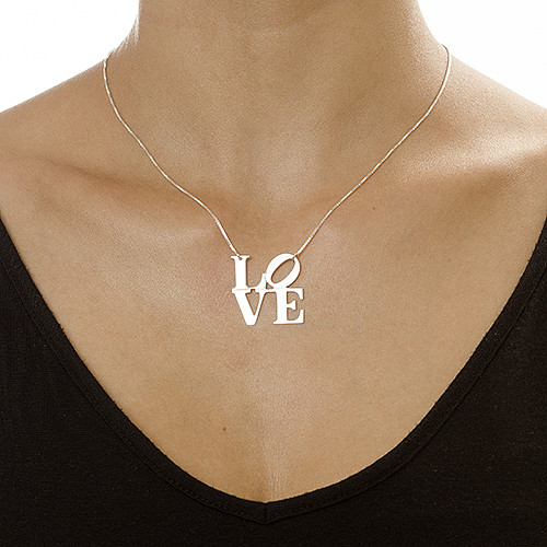 LOVE Necklace in Sterling Silver - 1