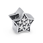 Large Star Bead with Cubic Zirconia