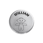 Little Boy Disc Charm with Personalized Engraving