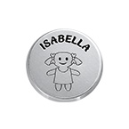Little Girl Disc Charm with Personalized Engraving