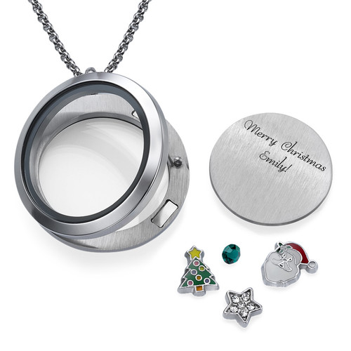 Merry Christmas  Floating Locket - 1