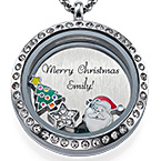 Merry Christmas  Floating Locket